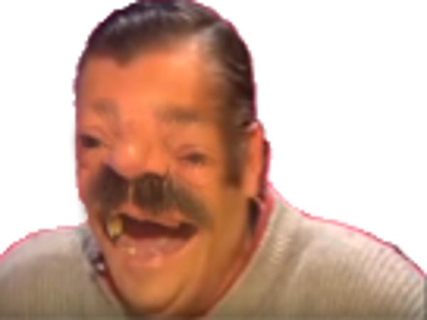 Sticker cyka risitas deform rire bouche dent yatangaki