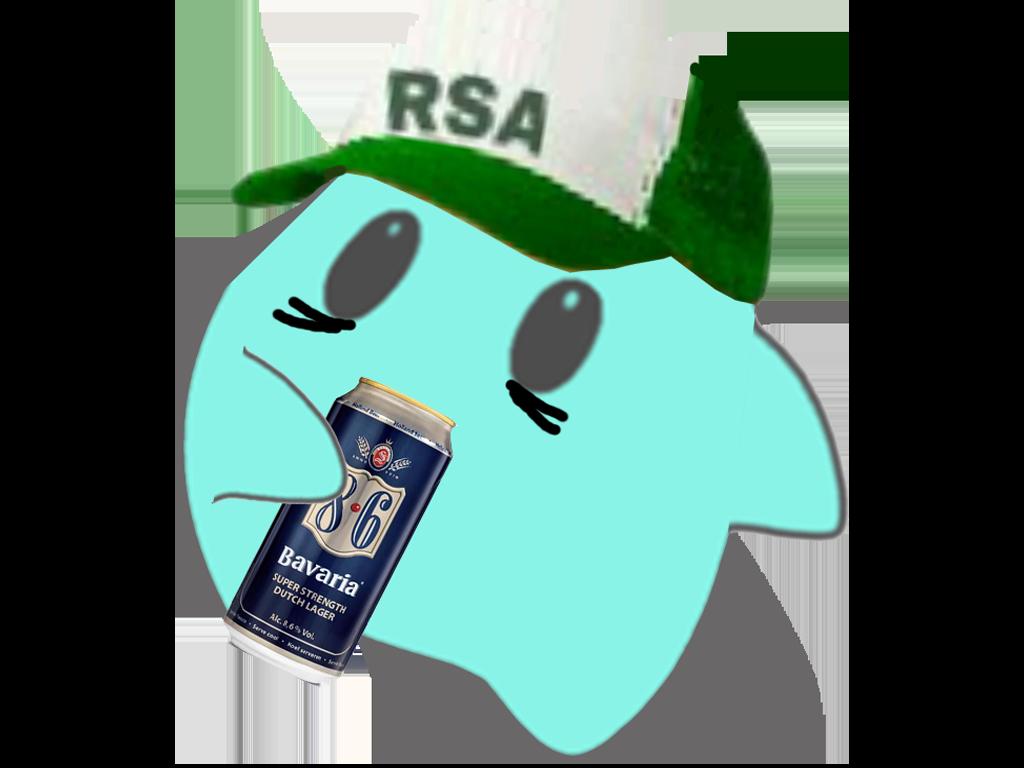 Sticker other luma rsa rsaiste biere 86 boire cfw etoile bleue casquette blanche verte