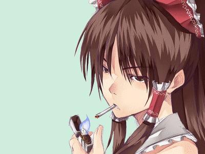 Sticker kikoojap reimu touhou anime