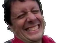 Sticker other maximy rire sourire moqueur deconnade deconneur blague ah yes jirais dormir chez vous globe trotter chemise rouge