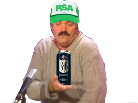 Sticker risitas tiens main rsa 86 biere alcoolique triste depression dechet