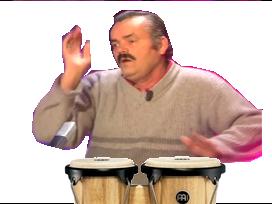 Sticker risitas bongo tam tam percussion dk donkey kong frappe mains instrument musique bruit bordel menteur pipo pipeau rythme