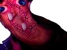 Sticker creepy bizarre abomination aya omg jesus aya risitas omg demon bordel