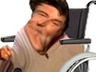 Sticker jesus aya handicap eussou gneuh omg batard fauteuil roulant risitas