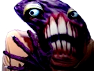 Sticker risitas creepy monstre omg enfer bizarre demon aya difforme jesus