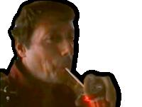 Sticker other maximy soda oklm sirop coca paille cool tranquille calme pepere zen no stress detendu ecoute sourire rire moqueur mouais