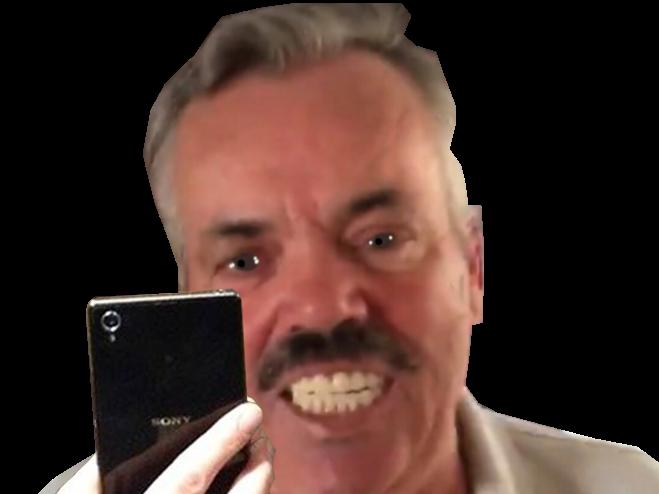 Sticker selfie risitas smartphone sony dents sourire transparent xperia photo