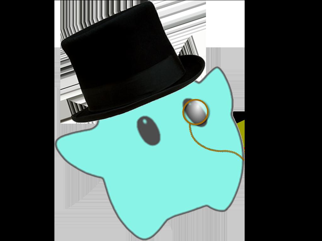 Sticker other luma classe gentleman monocle chapeau haut de forme etoile cfw