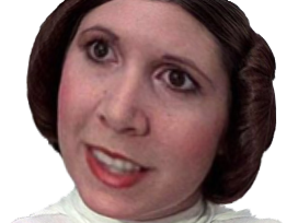 Sticker leia organa star wars carrie fisher croissant lol quoi happ nani zoom mongol wtf