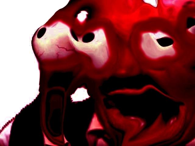 Sticker risitas creepy demon bordel omg aya enfer issou bordel difforme bizarre