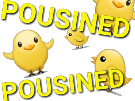 Sticker other poussined emoji poussin victime