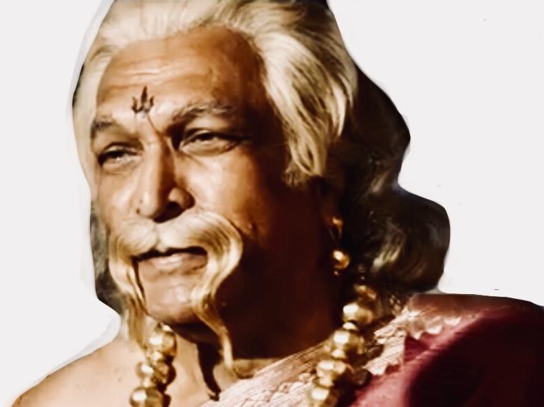 Sticker guerrier indien baahubali film bollywood hindou blond barbe alpha charisme maitre guru gange inde moustache khey en or
