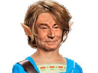 Sticker risitas jesus zelda link elf elfe hobbit lsda lotr fantastic fantastique sourire blonde cheveux