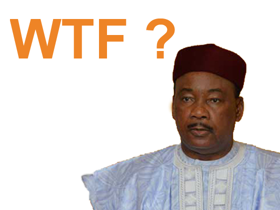 Sticker politic mahamadou issoufou niger president costume what the fuck cnan avenoel
