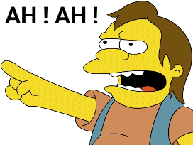 Sticker other ahah nelson simpson