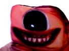 Sticker risitas creepy oeil monstre bizarre aya borde difforme issou