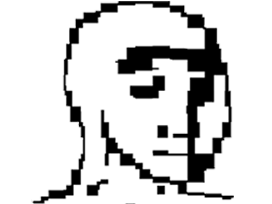Sticker other wojak 4chan kek pixel art fantome
