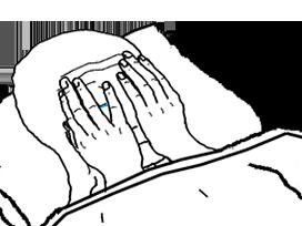 Sticker other wojak 4chan kek tfw no gf insomnie tristesse desespoir depression angoisse lit soir sommeil dormir