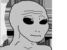 Sticker other wojak 4chan kek alien marsien extraterrestre et