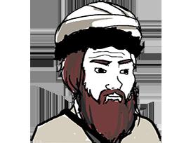 Sticker other wojak 4chan kek taliban turban afrique sahara djihad syrie barbe