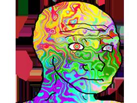 Sticker other wojak 4chan kek drogue hallucination lsd trip