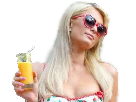 Sticker other paris hilton pose regard lunettes verre soleil jus blonde krankin