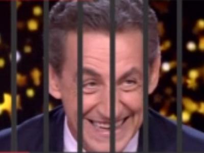 Sticker politic sarko prison barreaux sarkozy nicolas ump juge