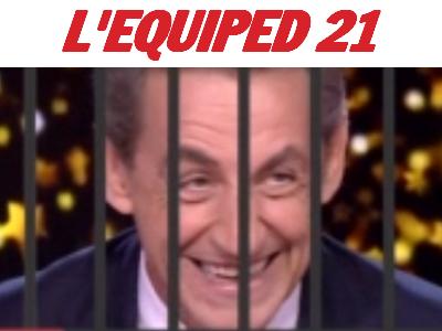 Sticker politic sarko prison equiped barreaux juge chance equipe 21
