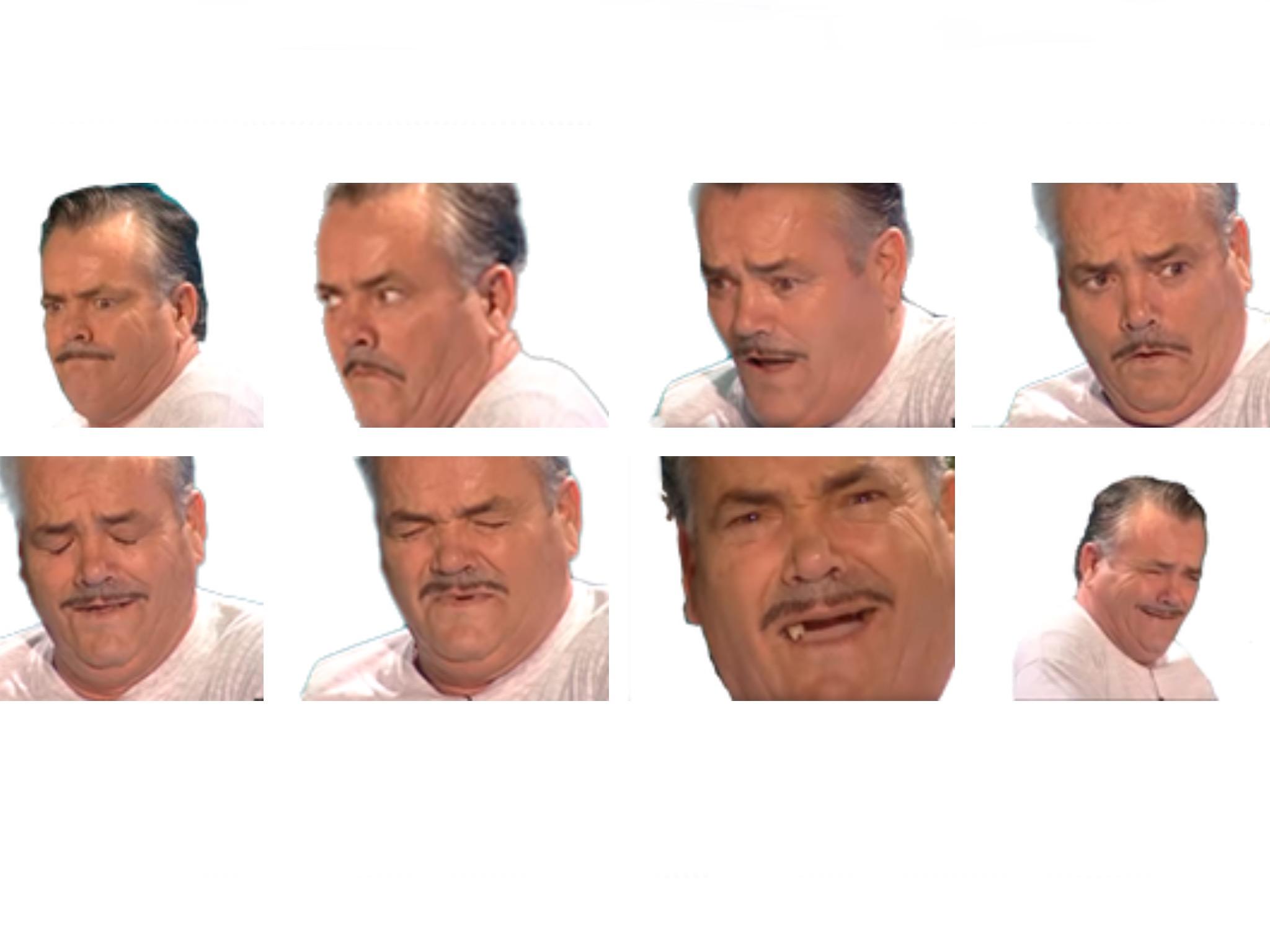 Sticker serie risitas poses expressions chrono el risitas ayaaa issou la chancla el banador rire collection reaction choc