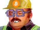 Sticker risitas mineur bitcoin btc puceau victime lunette carte graphique encule prix hausse