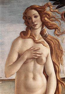 Sticker risitas grosse belle moche beaute art aryenne botticelli naissance mythologie grec romain