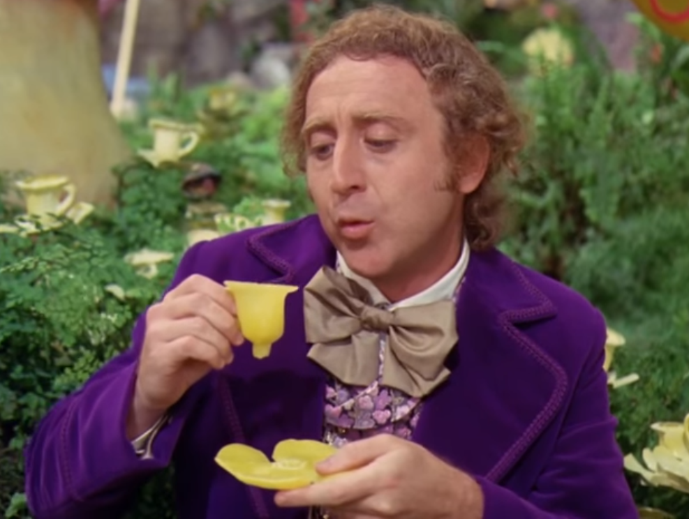 Sticker other willy wonka chapeau charlie et la chocolaterie boire the cafe fleur