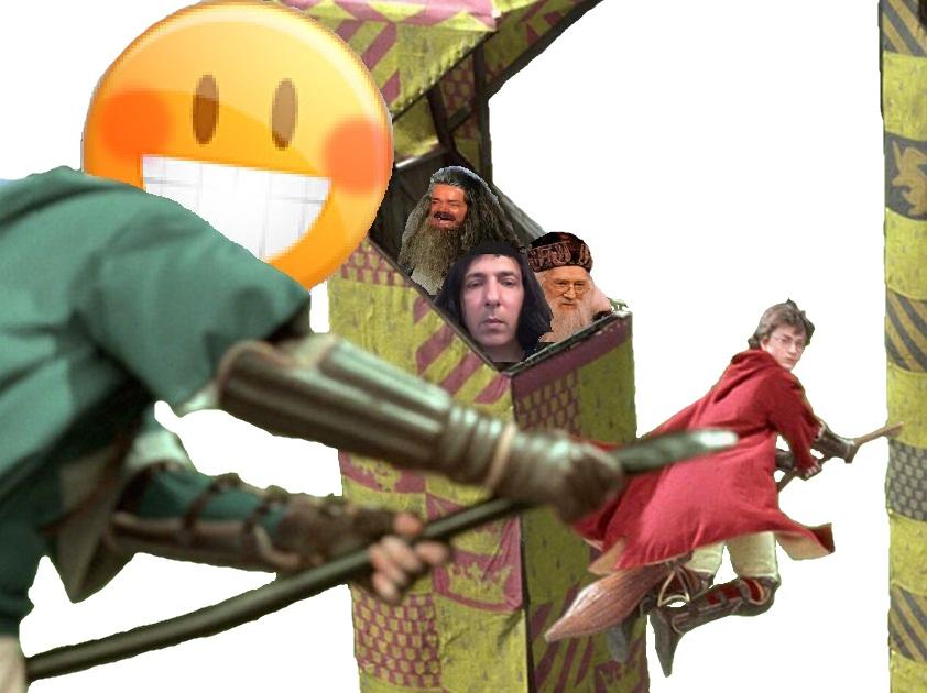 Sticker quidditch 410 harry potter le topic survivant hagrid rogue dumbledore