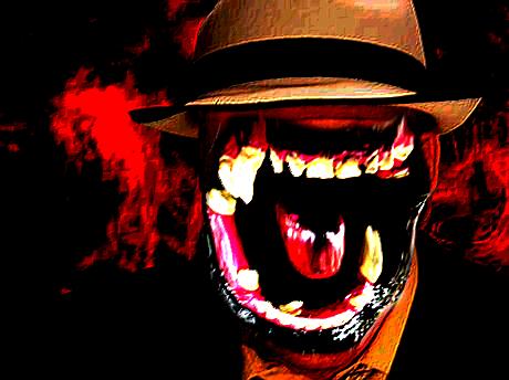 Sticker risitas difforme bizarre omg aya bordel issou monstre chapeau enfer