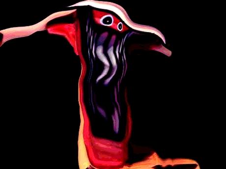Sticker risitas creepy monstre bizarre aya issou bordel difforme tordu immondice jvc