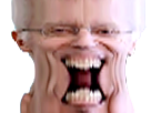 Sticker jvc henry de lesquen bizarre tordu monstre difforme aya