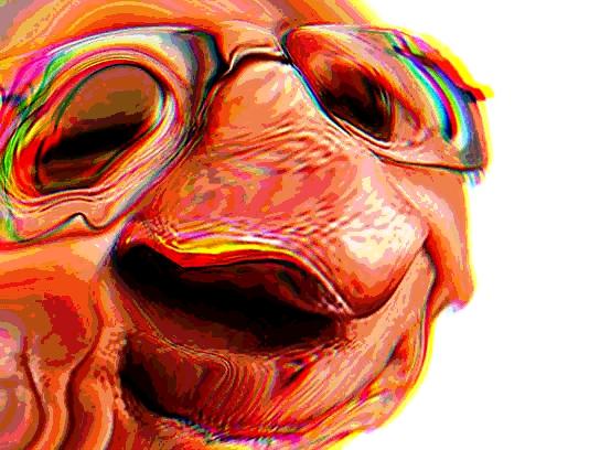 Sticker jvc larry silverstein la chance difforme bizarre monstre aya