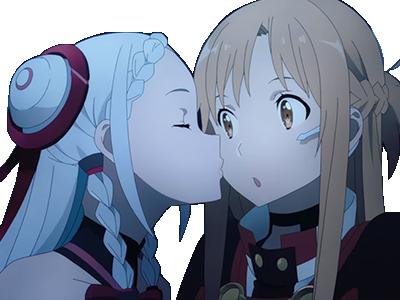 Sticker kikoojap yuna shigemura lexalia kiss bisous asuna