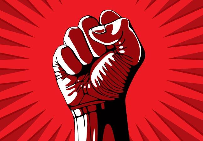 Sticker risitas communisme revolution rouge poing