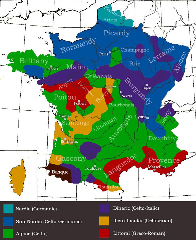 Sticker risitas francais races regions