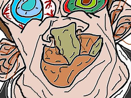 Sticker jvc dessin immondice creator monstre bizarre difforme