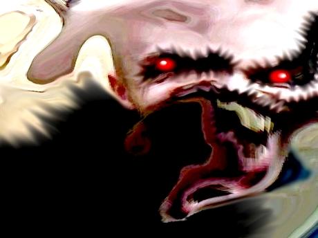 Sticker jvc bizarre kannash bizarre omg difforme monstre demon monstre