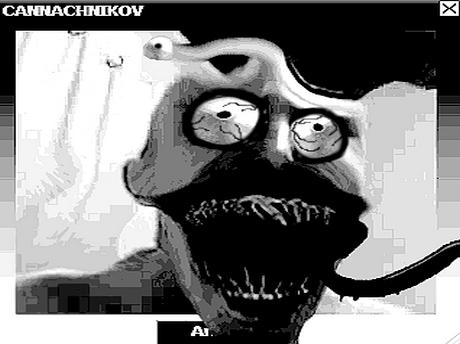 Sticker jvc cannachnikov omg bizarre difforme monstre kannach abomination