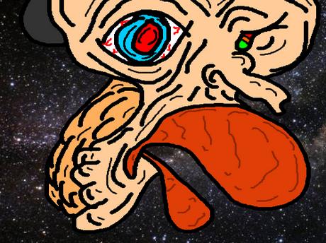 Sticker jvc kannach dessin tordu bizarre omg monstre univers