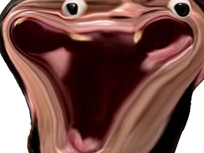 Sticker risitas el goudja cunao dents chicot peito bizarre tordu monstre