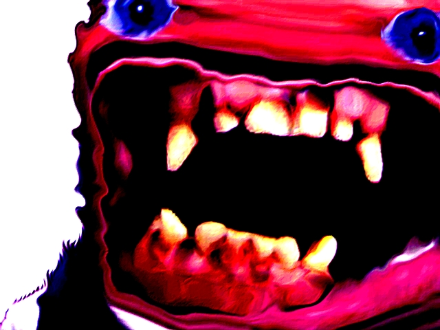 Sticker risitas creepy monstre issou aya bordel immondice omg