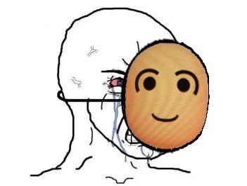 Sticker hap norageux masque ouin peure en larmes triste wii mii ds jvc