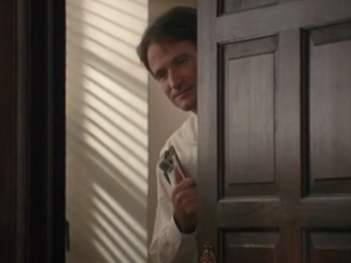 Sticker other dead poets society keating robin williams derriere porte peur timide ecoute krankin
