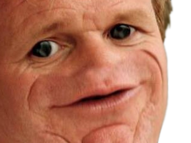 Sticker other gordon ramsay tete photoshop gros yeux ronds lel lal lol lul mdr jpp krankin