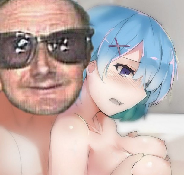 Sticker plafon avn rezero ram rem anime kikoojap sein nichon boobs
